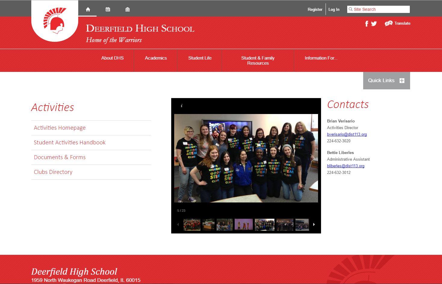 deerfield-high-school-activities-page